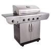 Char-Broil Commercial 4-Burner (40000 BTU) Liquid Propane Gas Grill with Side Burner