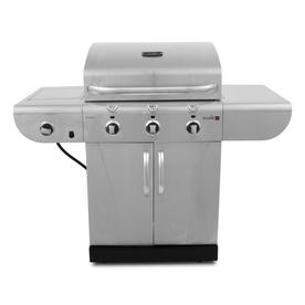 Char-Broil Commercial 3-Burner (30,000-BTU) Liquid Propane Infrared Burner Gas Grill with Side Burner