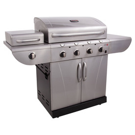 Char-Broil TRU-Infrared Commercial 4-Burner (36000 BTU) Liquid Propane and Natural Gas Grill with Side Burner