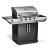 Char-Broil Commercial 4-Burner (50000 BTU) Liquid Propane and Natural Gas Grill with Side Burner