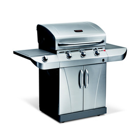 Char-Broil TRU-Infrared Commercial 3-Burner (30000 BTU) Liquid Propane and Natural Gas Grill with Side Burner