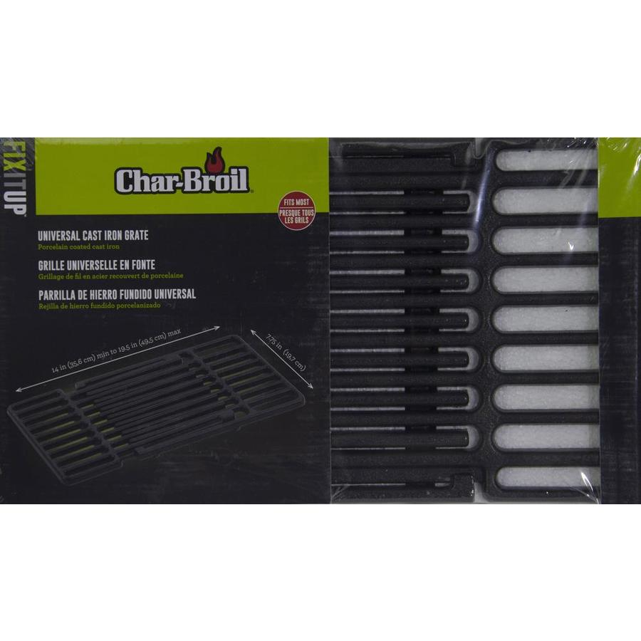 Char-Broil 8.8-in x 8.88-in Adjustable Length Rectangle Porcelain-coated  Cast Iron Cooking Grate