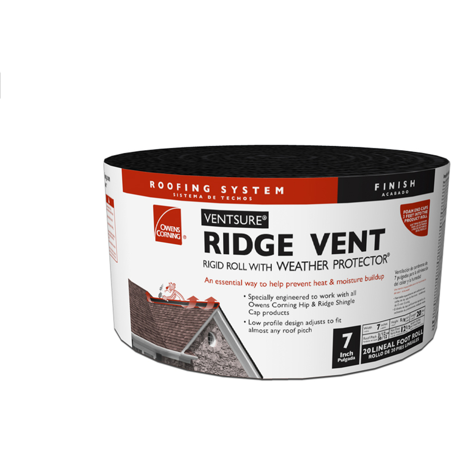 Shop owens corning roof ridge vent at for Off ridge vents
