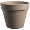  7.5-in H x 8-in W x 7.75-in D Chocolate Clay Pot