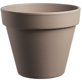 9-in H x 10-in W x 9.5-in D Chocolate Clay Pot