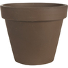 10.64-in H x 12.29-in W x 12.29-in D Brown Clay Pot