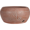 8-in H x 14-1/2-in W x 14-1/2-in D Clay Red Clay Outdoor Pot