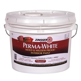 Rust-Oleum Perma White 378-fl oz Interior Semi-Gloss Smooth Texture White Water-Base Paint and Primer in One