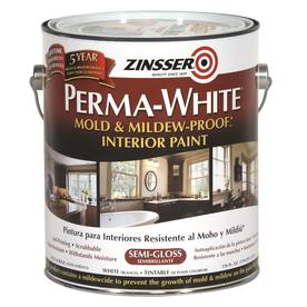 Rust-Oleum White Semi-Gloss Acrylic Interior Paint and Primer in One (Actual Net Contents: 126-fl oz)