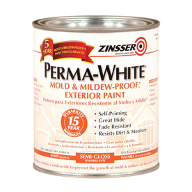 oleum 1 quart exterior flat white water base paint and primer in one. Black Bedroom Furniture Sets. Home Design Ideas
