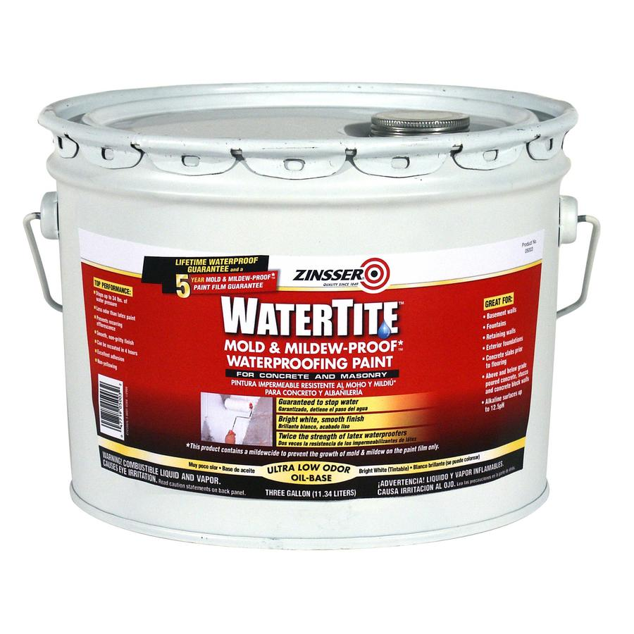 Shop watertite 3 gallon interior exterior flat white oil for Exterior oil based paint