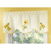 Style Selections 16-in L Yellow Sunflower Tapered Valance