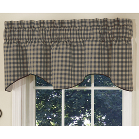 Style Selections 18-in L Black Genoa Tapered Valance
