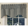 Style Selections Genoa 18-in Navy Polyester Rod Pocket Valance