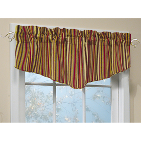 allen + roth 18-in L Red Modena Tapered Valance