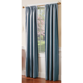 allen + roth 84-in L Blue Florence Curtain Panel