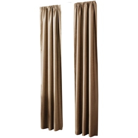 allen + roth Florence 84-in Taupe Polyester Rod Pocket Single Curtain Panel