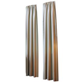allen + roth Alison 84-in L Stripe Blue Rod Pocket Curtain Panel