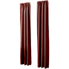 allen + roth Florence 84-in L Solid Red Rod Pocket Window Curtain Panel