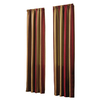 allen + roth Alison 84-in L Striped Red Rod Pocket Window Curtain Panel