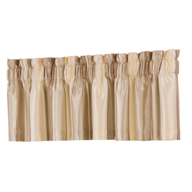 allen + roth 18-in L Ivory Alison Tailored Valance
