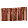 allen + roth 18-in L Red Alison Tailored Valance