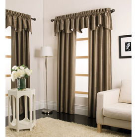 allen + roth Florence 95-in Taupe Polyester Rod Pocket Single Curtain Panel