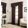 allen + roth Florence 95-in L Solid Chocolate Rod Pocket Window Curtain Panel