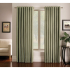 allen + roth Sullivan 84-in L Checked Green Grommet Window Curtain Panel