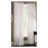 Style Selections 84-in L White Chloe Sheer Curtain
