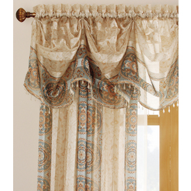allen + roth Cheshire 14.5-in Mist Polyester Rod Pocket Valance
