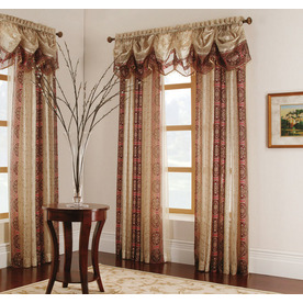 allen + roth 15-in L Red Cheshire Tapered Valance