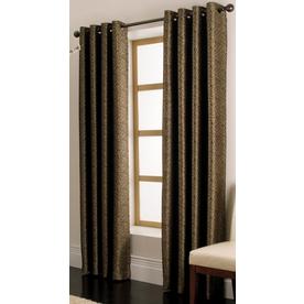 allen + roth Vernon 84-in L Solid Chocolate Grommet Window Curtain Panel