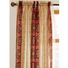 allen + roth 95-in L Red Cheshire Sheer Curtain