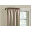 Style Selections Walker 63-in Cafe Polyester Rod Pocket Single Curtain Panel
