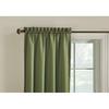 Style Selections Walker 84-in L Solid Artichoke Thermal Rod Pocket Window Curtain Panel