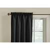 Style Selections 63-in L Thermal Black Walker Curtain Panel