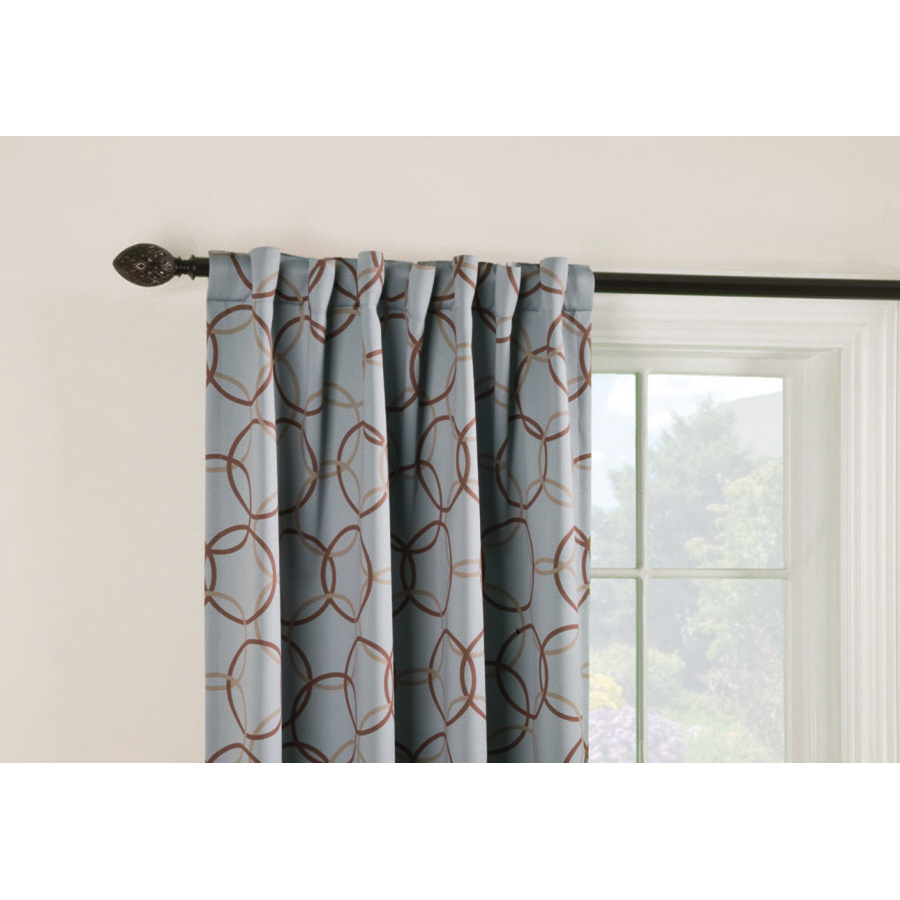 ... Geometric Slate Thermal Back Tab Window Curtain Panel at Lowes.com