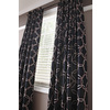 Style Selections Barrett 84-in L Geometric Black Thermal Back Tab Window Curtain Panel
