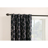 Style Selections Barrett 84-in Black Polyester Back Tab Single Curtain Panel