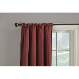 Style Selections Sonia 84-in L Solid Brick Thermal Back Tab Window Curtain Panel