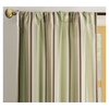 allen + roth Alison 63-in L Striped Green Rod Pocket Window Curtain Panel