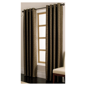 allen + roth Vernon 63-in L Solid Chocolate Grommet Curtain Panel