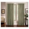 allen + roth Sullivan 63-in L Print Green Grommet Window Curtain Panel