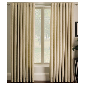 allen + roth Sullivan 63-in L Print Ivory Grommet Window Curtain Panel