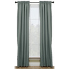 Style Selections Walker 63-in L Solid Blue Thermal Rod Pocket Window Curtain Panel