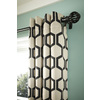 Style Selections Quinn 84-in Onyx/Ivory Polyester Grommet Single Curtain Panel