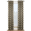 Style Selections Quinn 84-in L Geometric Onyx Thermal Grommet Window Curtain Panel