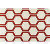 Style Selections Quinn 84-in L Geometric Red Thermal Grommet Window Curtain Panel