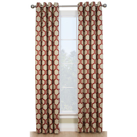Style Selections 84-in L Thermal Red Quinn Curtain Panel